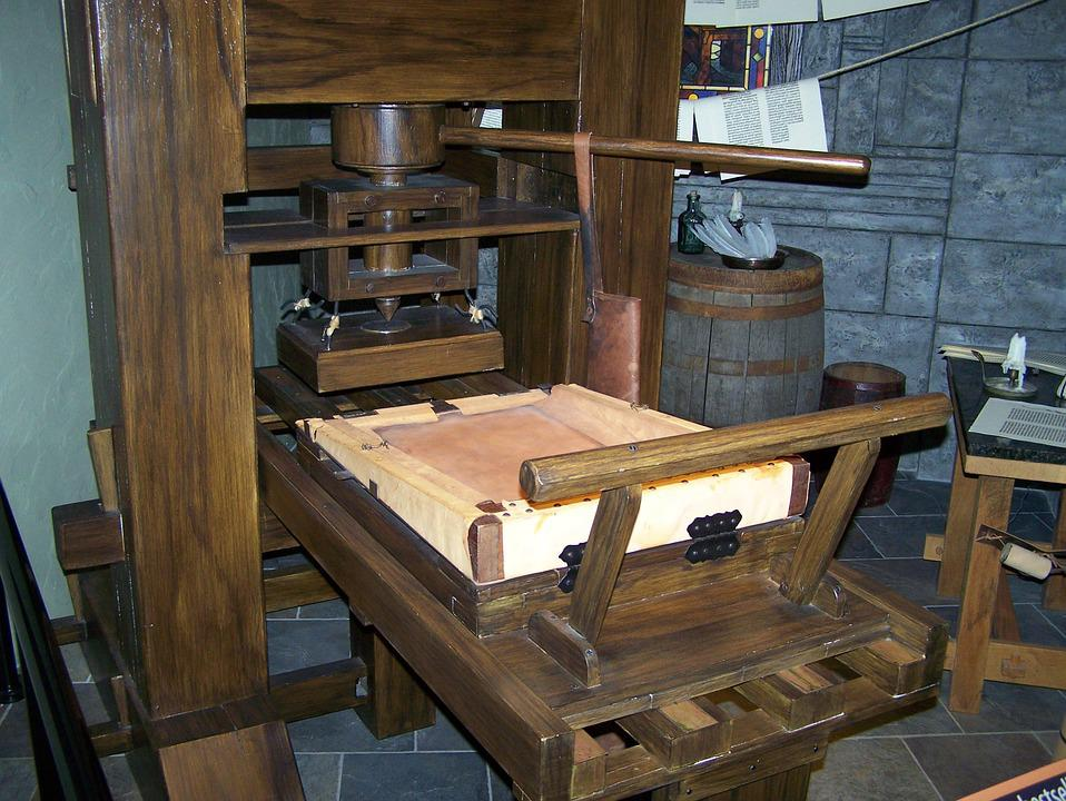 old time printing press free photo on pixabay