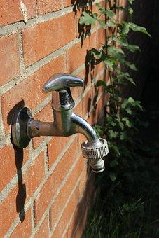 Faucet, Brick Wall, Bricks, Masonry