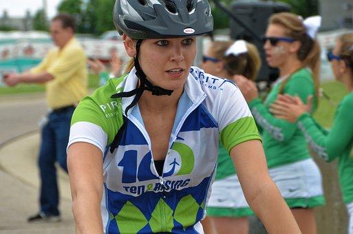 Woman, Cycling, Charity, Diabetes