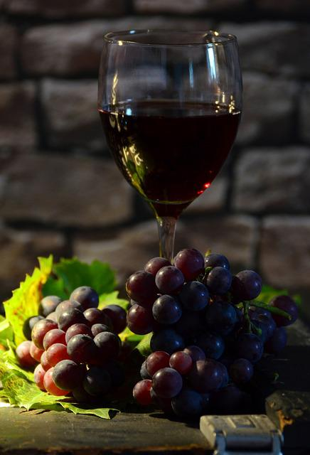 Free Photo Wine Glass Grapes Wine Free Image On