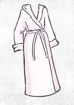 Robe Terry Pajama Clean Bathrobe Woman You