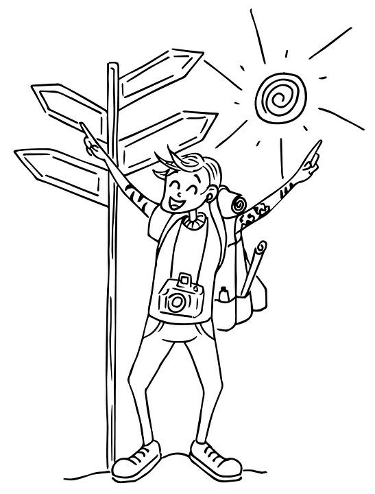 Illustrasjon tegning vector gratis bilde p pixabay - Voyageur dessin ...