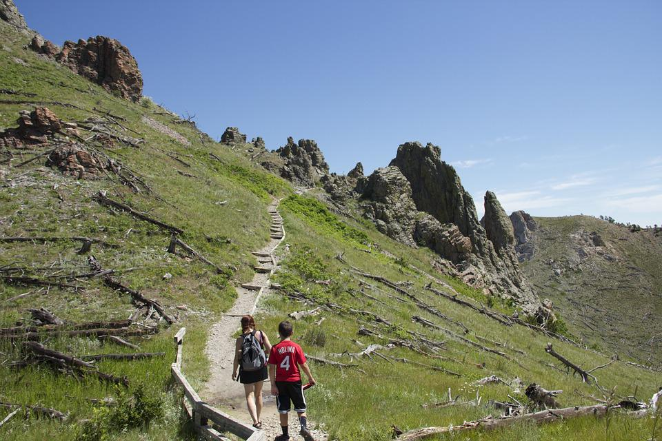Free photo: Hikers, Mountain Climbing, Trail - Free Image ...