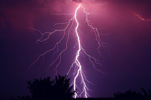 Thunder, Thunderstorm, Violet, Purple