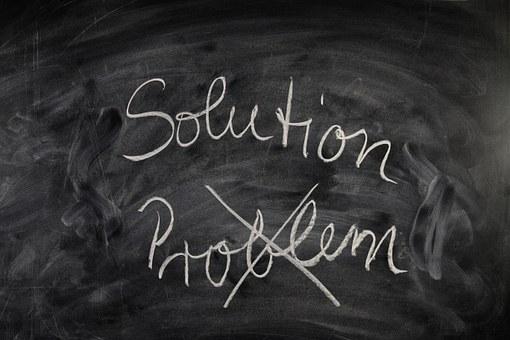 ボード, フォント, 問題, ソリューション, チョーク, 黒板, 教育, 研究