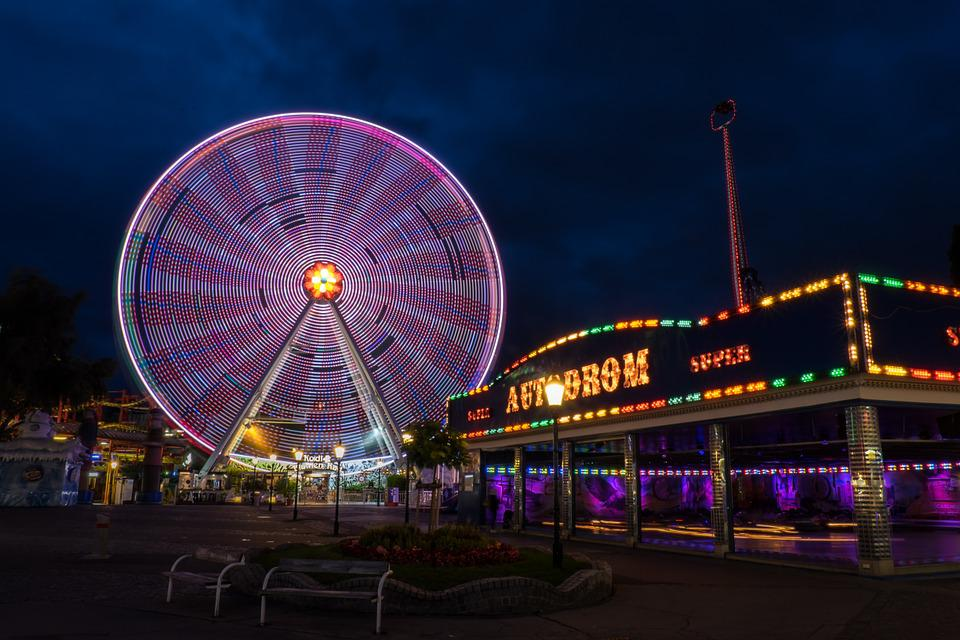 Night, Long Exposure, Prater, Folk Festival