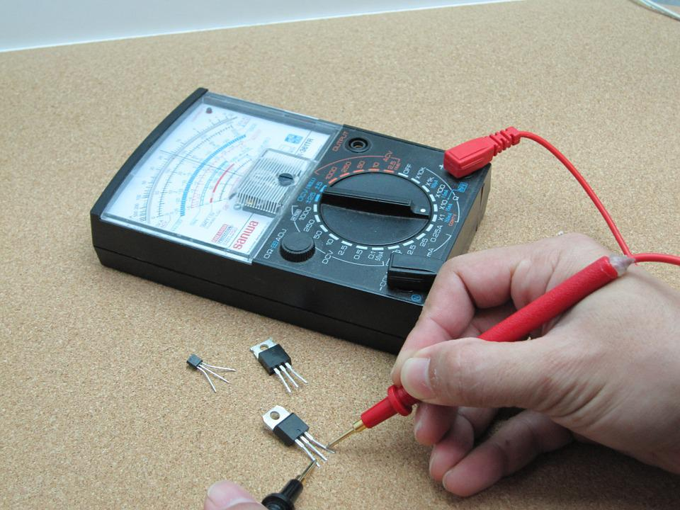 Electrónica, Transistor, Multimetro, Medición, Equipo