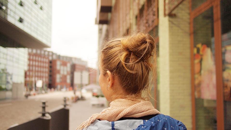 Menina, Cabelo, Viagens, Visita De Cidade, Amsterdam