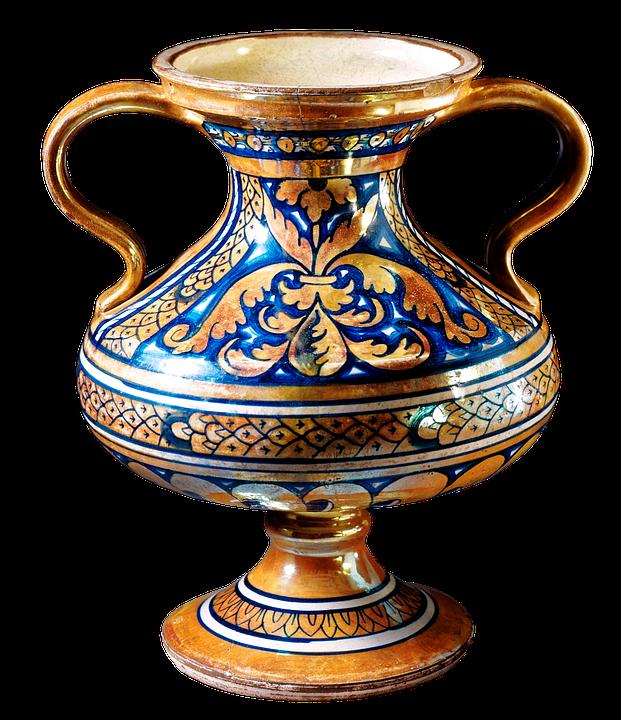 Two Handled Vase Tin Glazed Free Image On Pixabay