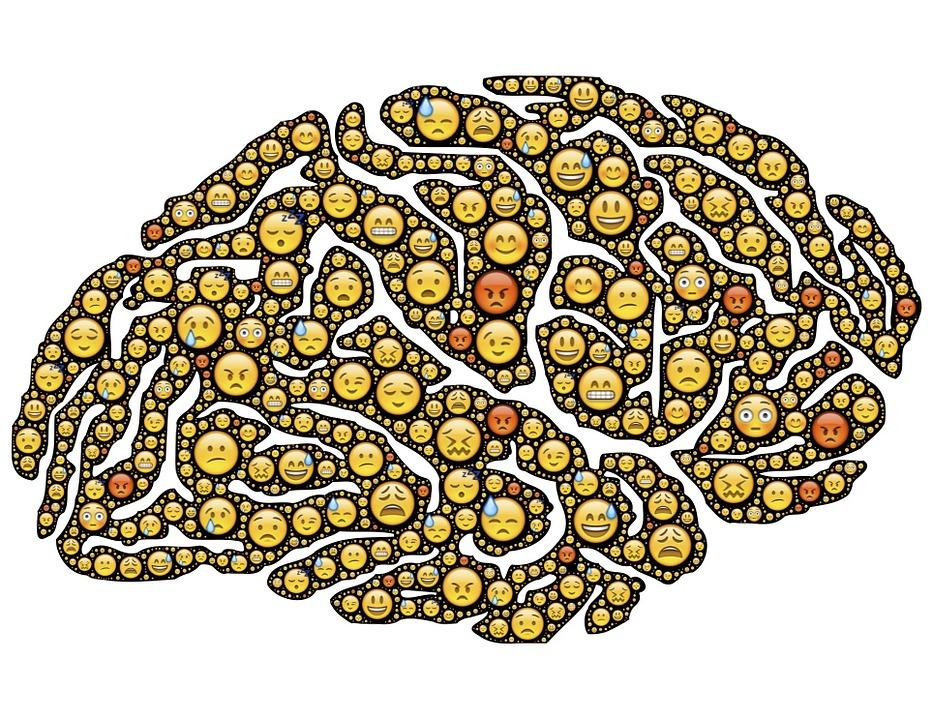 Cerebro, Mente, Emociones, Emoji, Iconos Gestuales