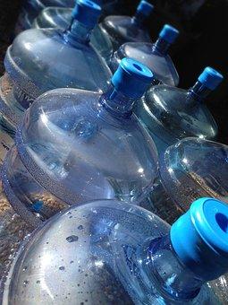 ボトル, 水筒, 空き瓶, ブルー, ペットボトル