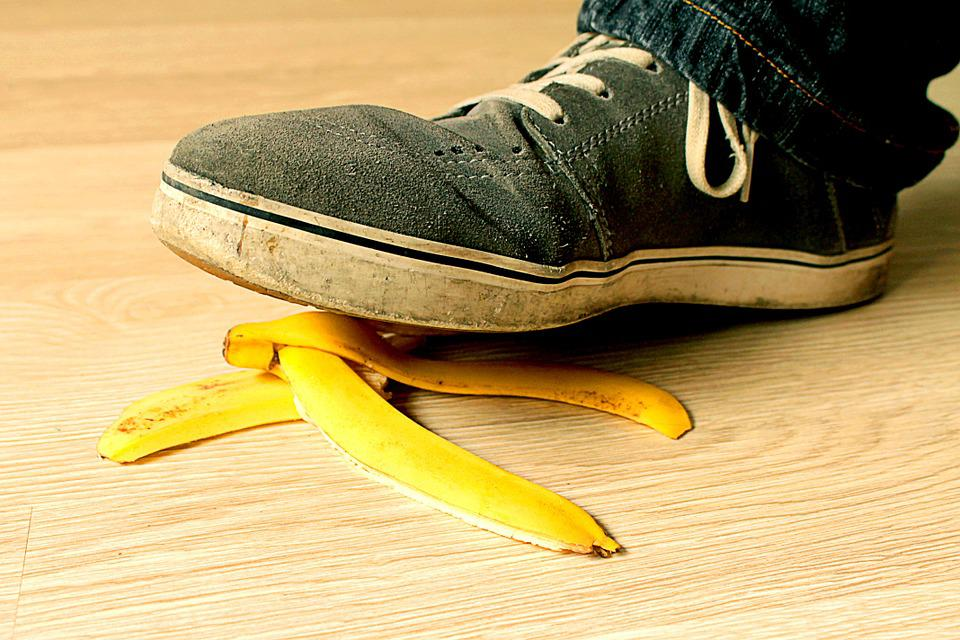 How can slip and fall accidents be prevented?