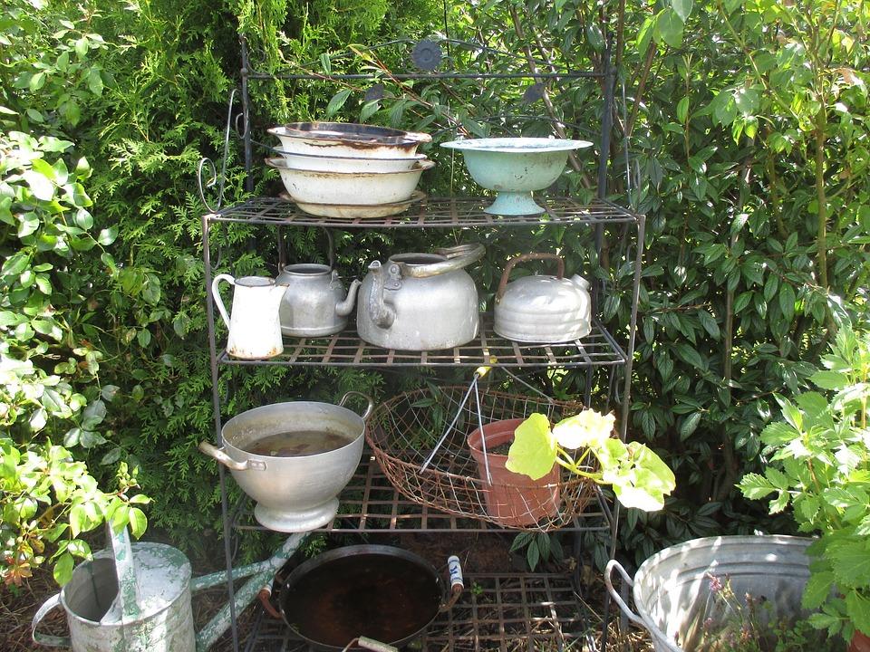 Garden Bowls Pots Vessels Shelf Idyll