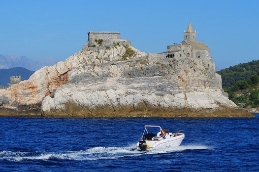 Boat, Sea, Porto Venere, Cliff, Rocks