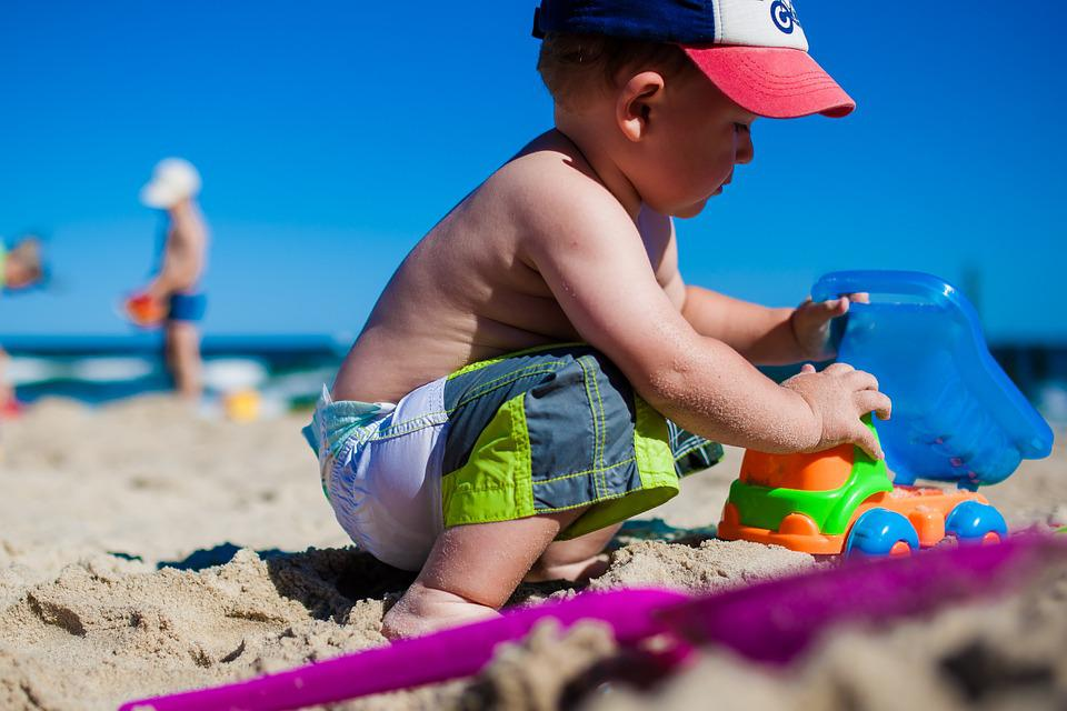 Boy, Child, Fun, Beach, Sea, Colors, Children