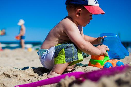 Boy Child Fun Beach Sea Colors Children Pl