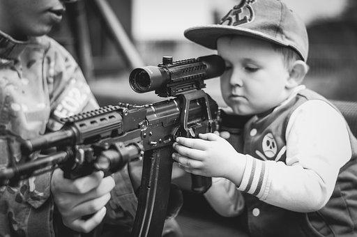Junge, Kinder, Porträt, Militärische