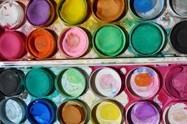 free photo  paint  art  paintbox  school kids