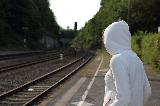 Bahnsteig, Reise, Gleis, Schienen