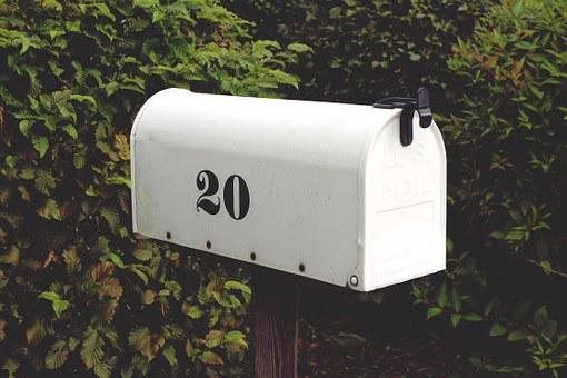 Mailbox Number Twenty White Letter Boxes P