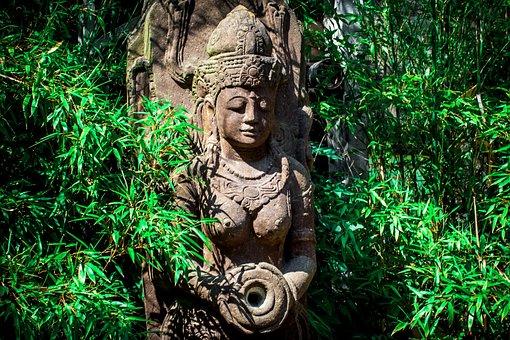 India, Patung, Dewi, Batu, Wanita, Angka
