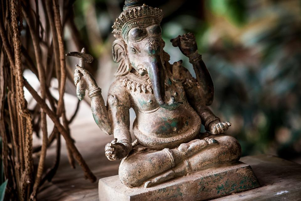 India, Elephant, Statue, Stone, Figure, Hinduism, Art
