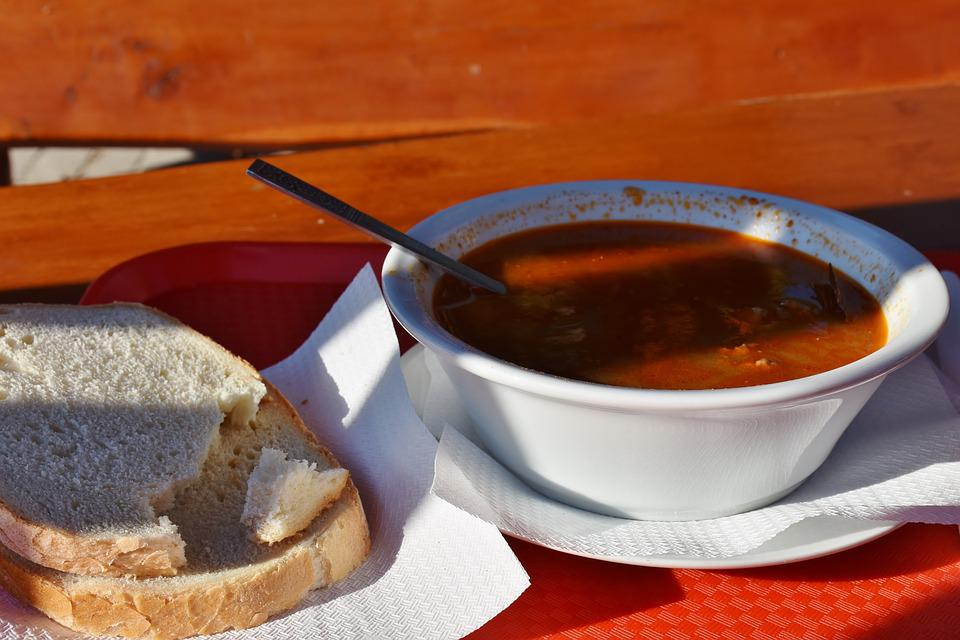 Soup, Goulash, Bread, Food, Eat, Edible