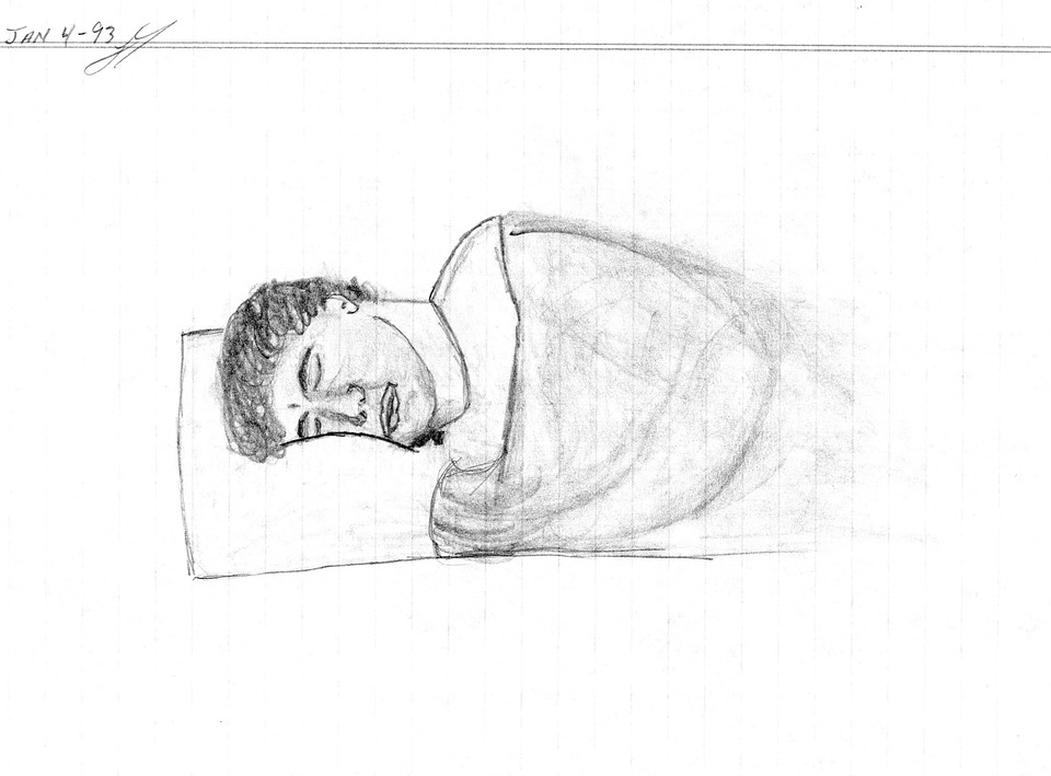 Hand Drawing Man Sleeping Draw Free Photo On Pixabay