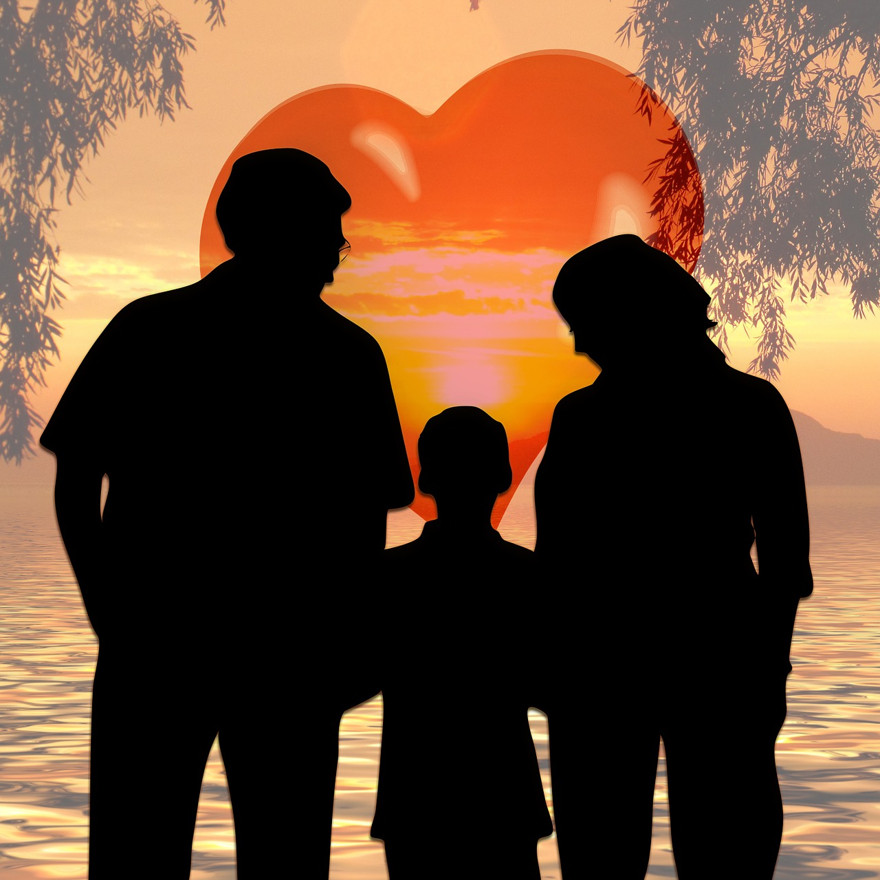 Сердечко семьи картинки
