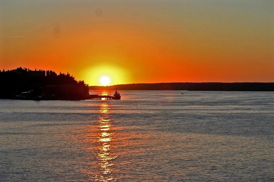 Wschód Słońca Szwecja Archipelag Darmowe Zdjęcie Na Pixabay