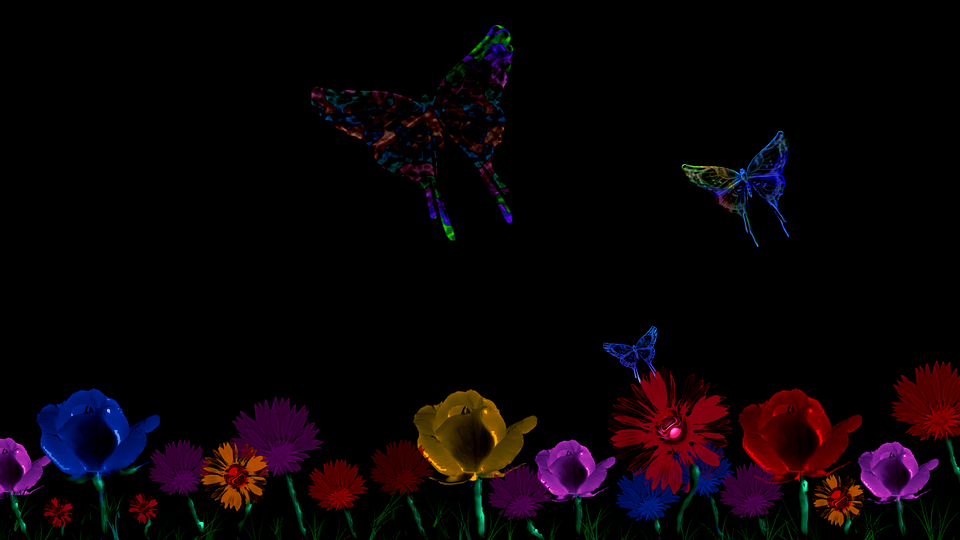 free illustration abstract floral butterfly design