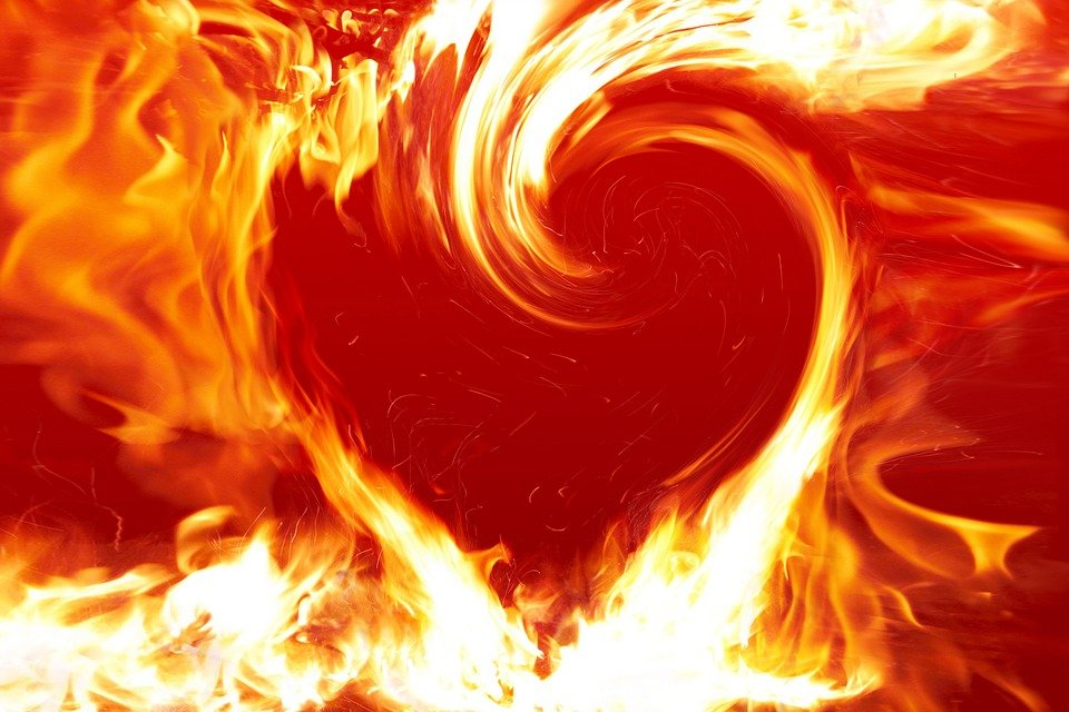Free illustration Fire Heart Heart Fire Love Free Image on