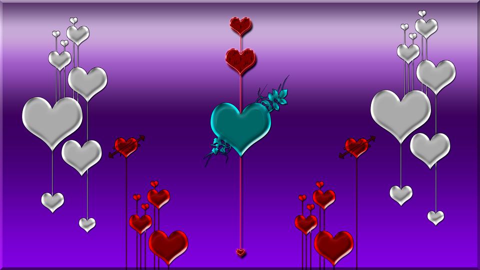 purple background hearts 183 free image on pixabay