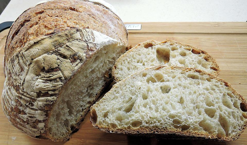 Sour Dough Bread, Crust, Texture, Baked, Food