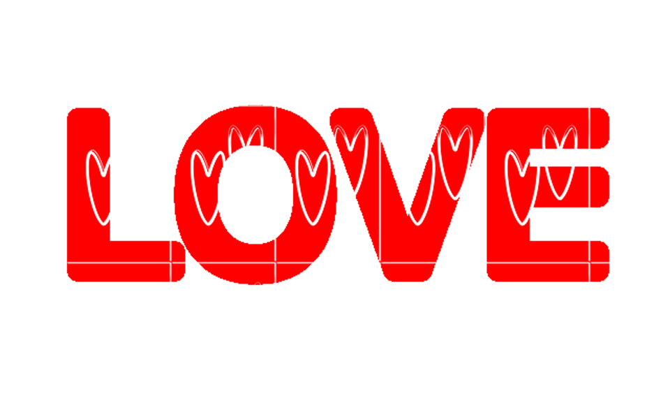 Love Word Art Valentine Romantic Message Font