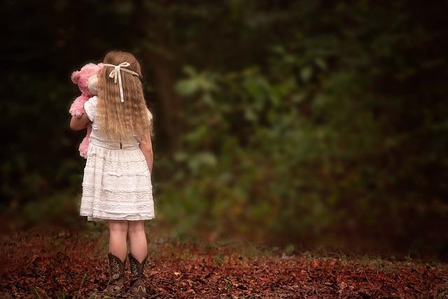 girl backside woods teddy 183 free photo on pixabay