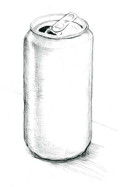 gratis foto blikje tekening potlood gratis afbeelding