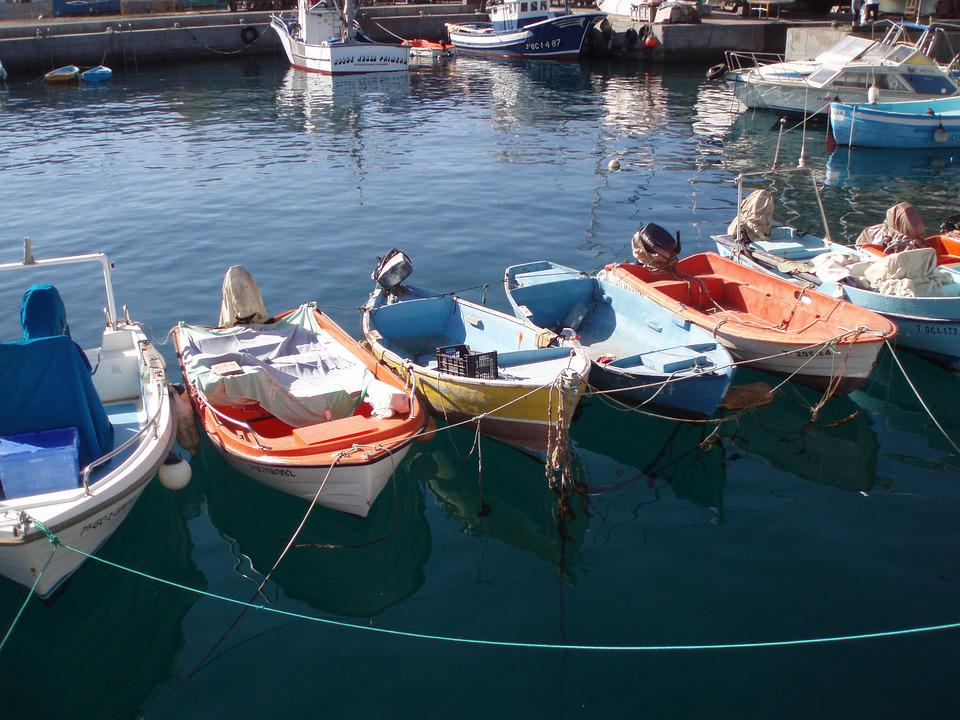 6f1435be8 Lode, Rybárske Lode, More, Grécko, Corfu, Port, Vody