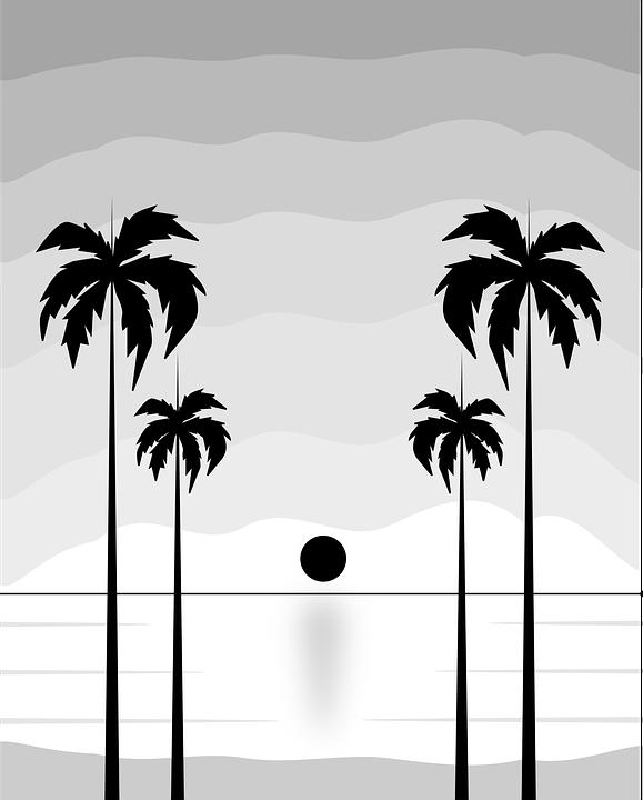770 gambar pemandangan pantai hitam putih Terbaru