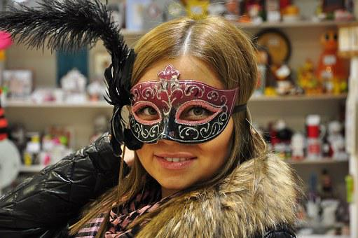 Mask, Masquerade, Girl, New Year'S Eve