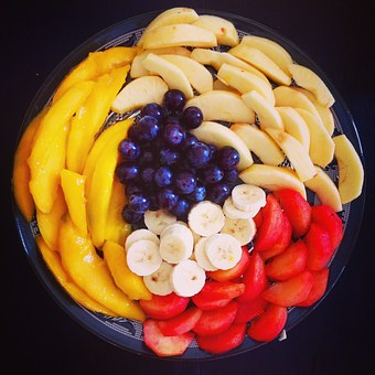 Fruit Salad Plate Dessert Meals Banana Fis