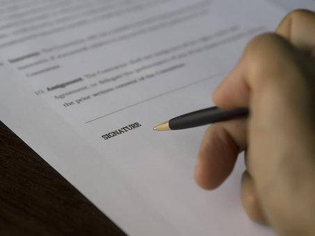 Negócio, Assinatura, Contrato, Documento