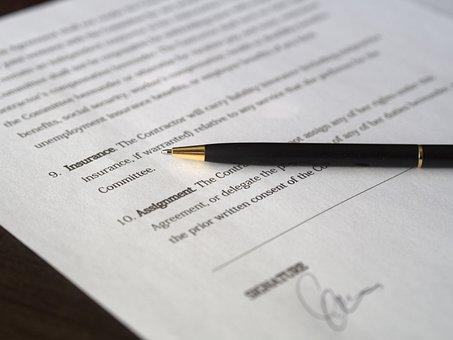 Business, Signature, Contrat, D'Affaires