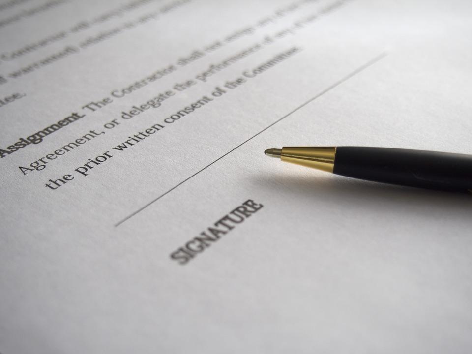 Unternehmen, Unterschrift, Vertrag, Geschäft, Dokument