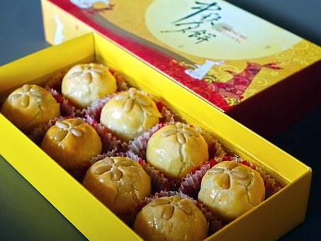 Moon Cake, Mid-Autumn, Asian, Chinese