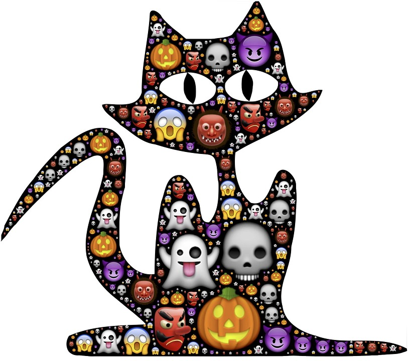 Katt Halloween Emoji · Gratis bilder på Pixabay