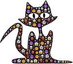 cat, halloween, emoji