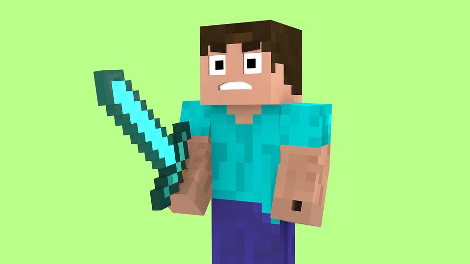 Minecraft Steve Schwert Kostenloses Bild Auf Pixabay