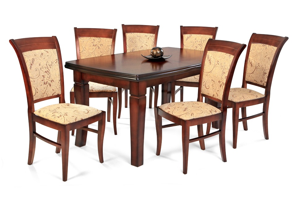 Free illustration furniture dining table chair free for Wooden dining table and chairs