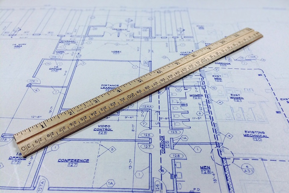 free photo blueprint ruler architecture free image on pixabay